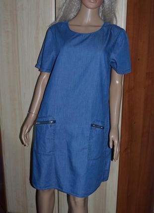 Джинсовое платье peacocks 14 размер