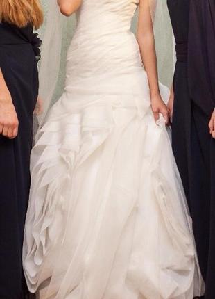 Свадебное платье vera wang. колір айворі. весільна сукня