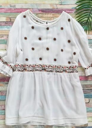 Блуза с вышивкой из вискозы р.m-l