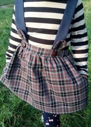 Детская юбка на бретельках/сарафан