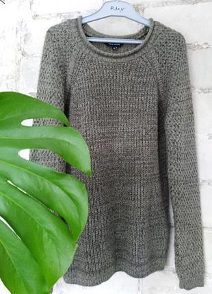 Джемпер крупной вязки  оливковый new look
