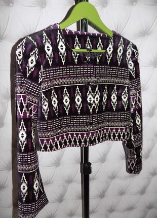 Укороченный  пиджак, стрейч бархат