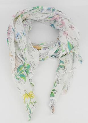 Итальянский шарф girandola 0001-22 белый, коттон 80%, шелк 20%