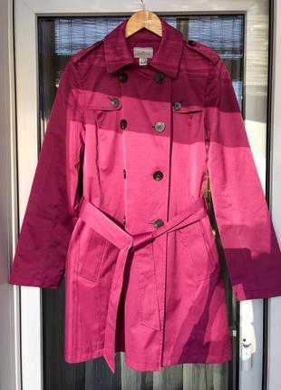 Пальто / тренч / плащ цвета фуксия от cyrillus торг