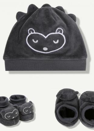 Набор, комплект детский шапка пинетки z-generation