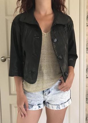 Куртка gant 100% кожа