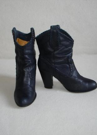 Ботинки полусапожки кожаные бренд buffalo