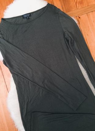 Платье миди цвета хаки topshop