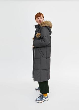 Линная стеганая куртка в стиле oversize
