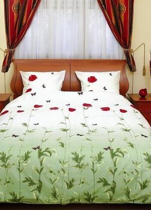 """Комплект постельного белья """"маки зеленые с бабочками"""", тм теп"""