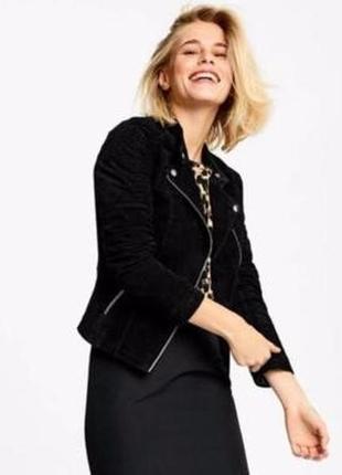 Куртка косуха 100 % натуральная кожа esmara (германия) модная коллекция хайди клум