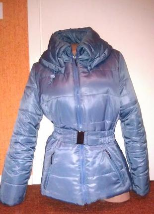 Зимняя куртка на молнии холофайбер с воротником без капюшона nm newmark fashion collection