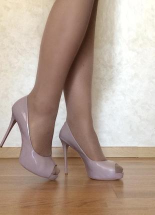 Туфли estro натуральная лакированная кожа