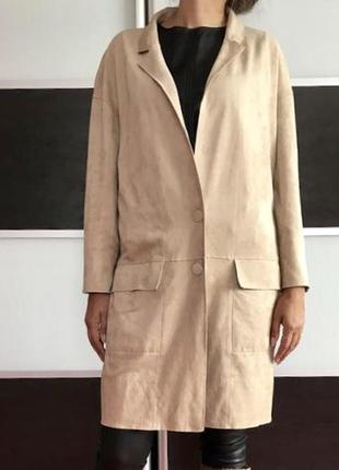 Модное пальто под замш