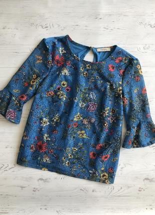 Блуза цветочный принт  oasis