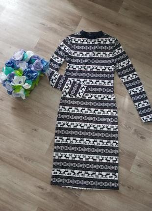Платьеце. платье длинное. осеннее платье. тёплое платье