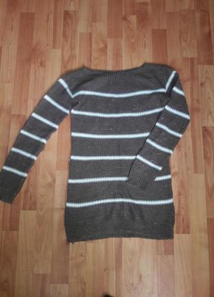 🔥акция🔥очень красивый удлиненный свитер /джемпер туника с люрексом