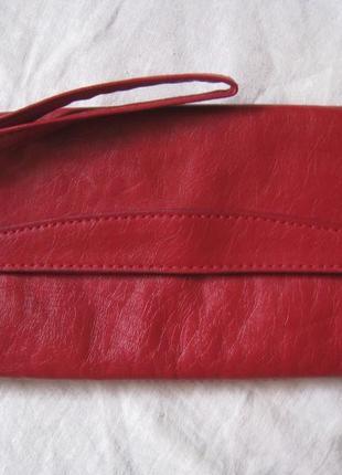 Фирменный кожаный клатч, косметичка florence&fred, англия, оригинал!