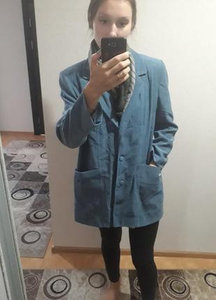 de765872e98 Пыльно голубое легкое пальто оверсайз бойфренд плащь кардиган