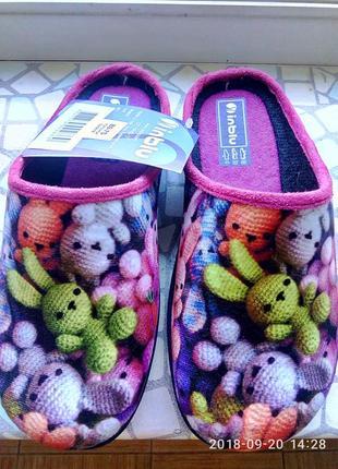 Тапки для девочек, тапочки, домашняя обувь.inblu