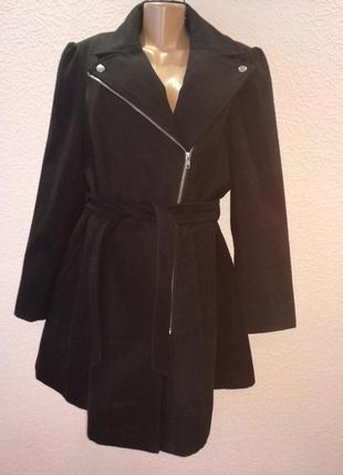 Пальто демисезонное стильное чёрное р20