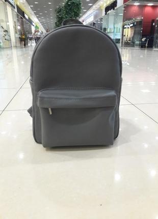 Женский рюкзак средний серый графит