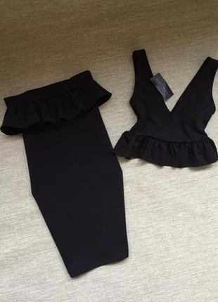 Шикарный комплект юбка топ