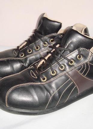 Туфли-кроссовки р.37, демисезон new lander черные, мальчику, в школу
