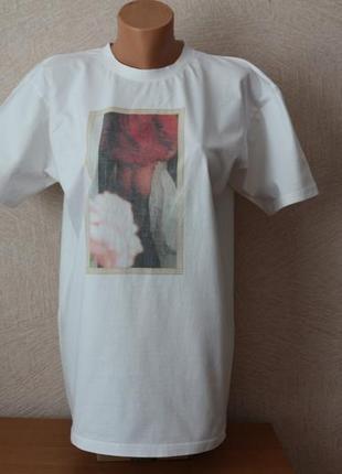 B&c ( best connection)-оригинал белая хлопковая футболка, р. l-xl