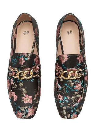 Туфли лоферы  мюли h&m. размер 39.  стелька 25 см