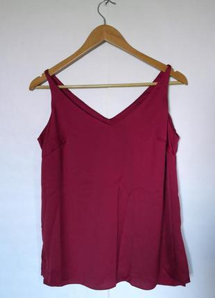 Бордовый топ, бордовая майка, бордовая блуза. блуза на брительках