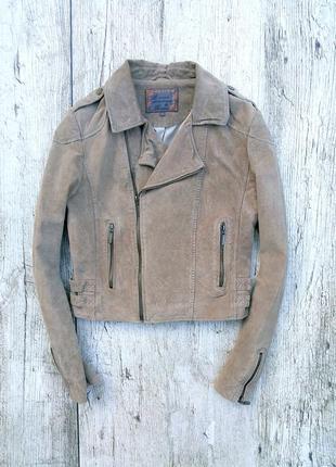 Стильная кожаная куртка косуха review ( замшевая ) 100% натуральная кожа ( замша )