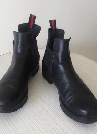 Женские ботинки челси, черные,кожаные , 39