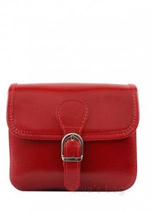 Кожаная красная сумка-клатч alma италия разные цвета