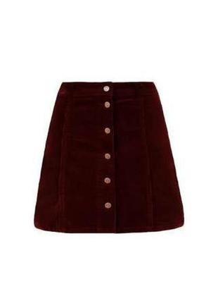 Вельветовая юбка new look mini