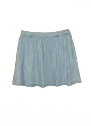Джинсовая юбка расклешенная, солнцеклеш легкий джинс лиоцелл tencel размер 16 наш 50