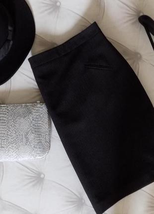 18 р-ра юбка строгая, офис, учеба, мелкая полоска