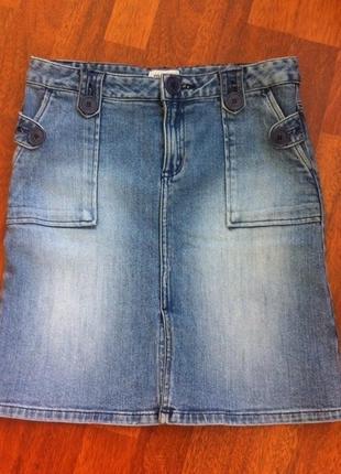 Джинсовая юбка, размер s