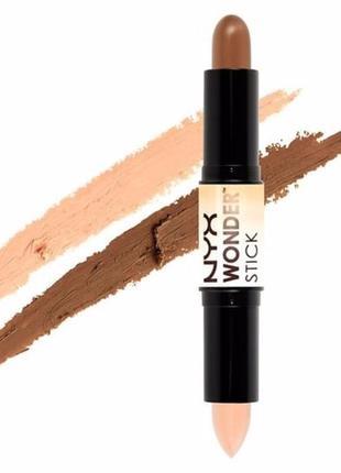 """Двусторонний корректор - карандаш nyx """"wonder stick highlight & contour"""""""