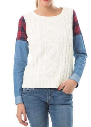 Комбинированный свитер noisy may