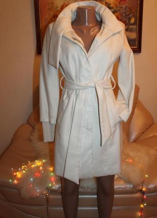 Шикарное белое пальто кашемир kira plastinina s