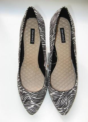 Туфли лодочки зебра - 25,5 см. стелька