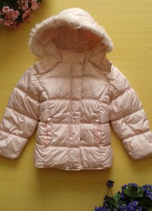 Демисезонная куртка minx, цвет пудра, 3-4 года 98-104 см
