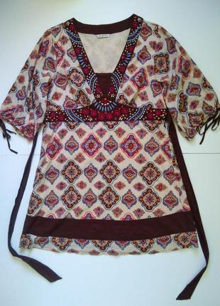Туника платье в этностиле хлопок george