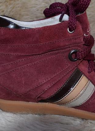 Замшевые +кожа скинерсы ботинки р.40 26 см англия antichic