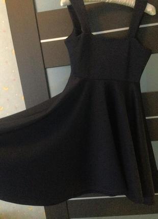 Темно-синее платье с юбкой солнце boohoo 38р3
