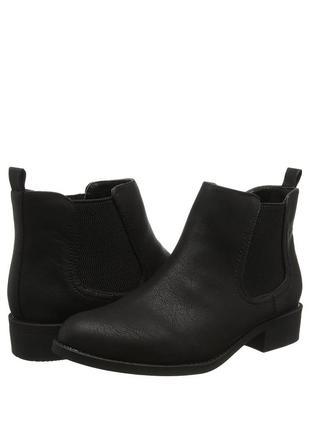 Женские чёрные ботинки челси, полуботинки dorothy perkins демисезон