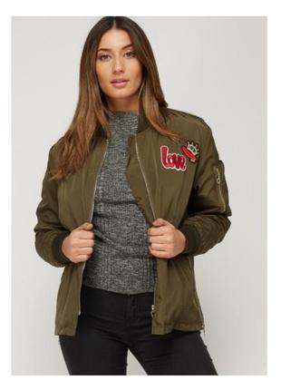 Куртка/бомбер с аппликацией ella kingsley р.m/l