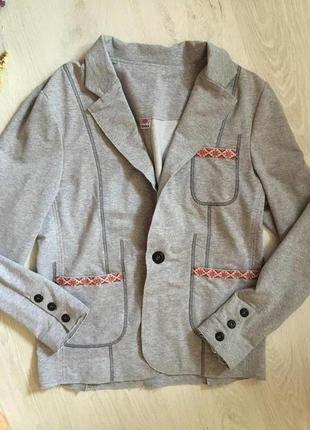 Стильный мужской пиджак этно стиль, кежуал