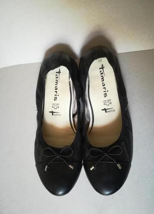 Кожаные балетки tamaris/германия